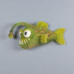 Needle Felted Animals, Felt Animals, Wet Felting, Needle Felting, Felt Fish, Bear Felt, 3d Figures, Textile Sculpture, Sea Crafts
