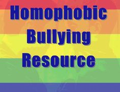 Homophobic bullying resource - Use this booklet to address homophobic forms of bullying and what can be done about it.