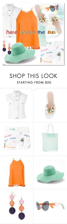 """Here comes the sun !"" by deneve ❤ liked on Polyvore featuring STELLA McCARTNEY, Stuart Weitzman, Tory Burch, Alexander Wang, Peter Grimm, BaubleBar and summerstyle"