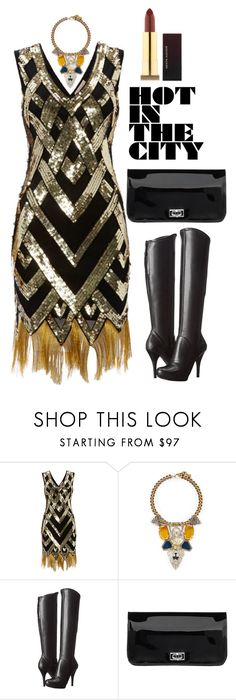 """Hot In The City"" by robert-vayner ❤ liked on Polyvore featuring Lulu Frost, GUESS, Knights and Roses and vintage"