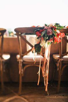 #chair-decor Photography: Max Wanger  Read More: http://www.stylemepretty.com/2013/10/29/malibu-wedding-from-max-wanger-bash-please/  #bethandbenwedding