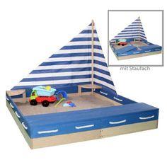 Sun Sandkasten MATROSE Sandkiste aus Massivholz