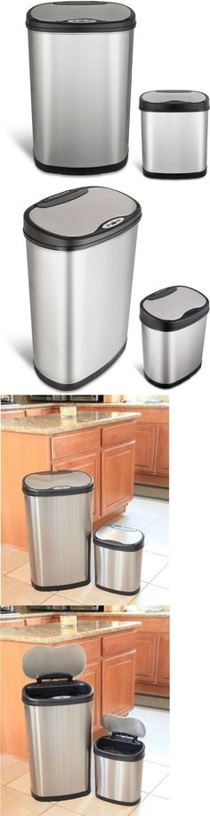 Trash Cans And Wastebaskets Cool Trash Cans And Wastebaskets 20608 New 12L Touchfree Motion Sensor Design Decoration