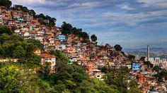 A favela on the slopes near Corcovado in Rio de Janeiro