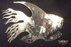 Handmade Metal Art - Piranha by Dan Statler