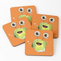 Not all germs are bad. Put a smile on your face with these bacteria designs created using watercolours and a sprinkle of digital magic. Various designs and products available. Contagious smiles guaranteed!   #bacteria #coasters #cute #illustration #happy #aocillustration