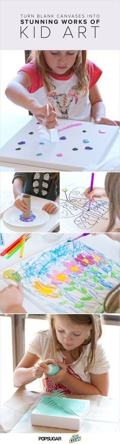Turn Blank Canvases Into Stunning Works of Kid Art