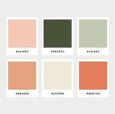 Color Palette No. 43 Warm and cozy. Color Palette No. 43 Warm and cozy. Peach Colors, Warm Colors, Green Colors, Warm Color Schemes, Muted Colors, Interior Colour Schemes, Bedroom Colour Schemes Warm, Warm Bedroom Colors, Vintage Color Schemes