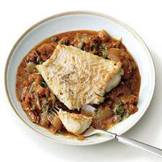 Cod with Stewed Eggplant