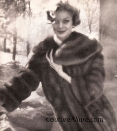 Natural Royal Crown Russian sable by Maximillian. I love the way the soft focus of the photograph emulates the supreme softness of the sable fur. 1957