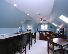 Angled ceilings on pinterest slanted ceiling closet for Painting rooms with angled ceilings