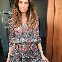 Nowa! Sukienka Stella❤️ #fashion #cracow #new #dress #cute #print #blackbow #style #ootd #sukienki #moda #polskamarka #krakow