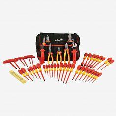 Wiha 32874 48 Piece Insulated Pliers and Screwdriver Tool Box - KC Tool
