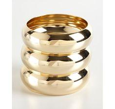 A.V. Max set of 3 - gold dome bangles