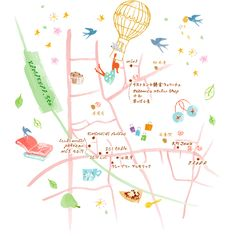 illust / MASAMI - Kamakura Buch Design, Map Design, Graphic Design, Life Map, Tourist Map, Little Doodles, Treasure Maps, City Maps, Plans