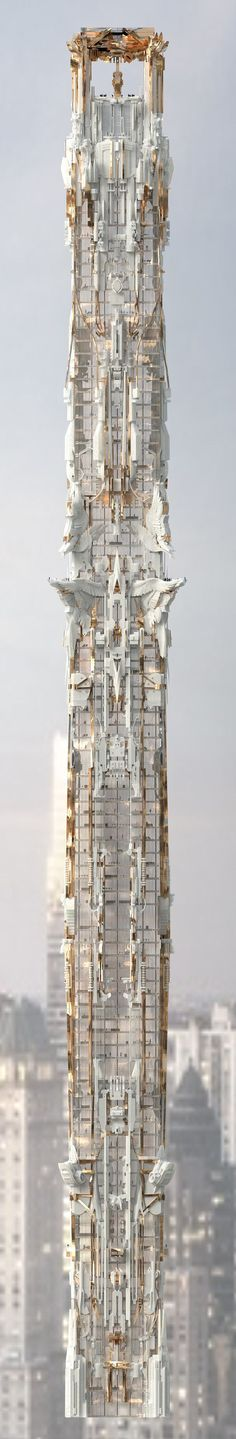 Mark Foster Gage's Manhattan Skyscraper Takes Gothic Architecture to New Heights,© Mark Foster Gage Architects #gothicarchitecture