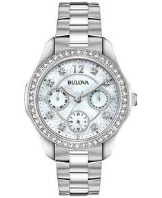 Bulova Women's Stainless Steel Bracelet Watch 36mm   macys.com