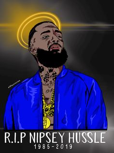 Nipsey Hussle Portrait Drawing Black Art In 2019 Art