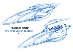 Here are more sketches and plans of future Vulcan ships from the Perpetual files! Live long and prosper,,, Well at another gaming company anyways! Space Ship Concept Art, Concept Ships, Aliens, United Federation Of Planets, Apocalypse Art, Sci Fi Ships, Star Trek Starships, Spaceship Concept, Star Trek Universe