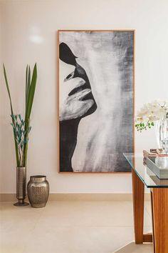 A decoration made especially for mother and child. Decoration details with . A decoration made especially for mother and child. Details of decoration with plants and artwork, painting, painting. Abstract Canvas, Oil Painting On Canvas, Canvas Wall Art, Painting Abstract, Abstract Painting Techniques, Black Artwork, Black And White Painting, Large Wall Art, Canvas Canvas