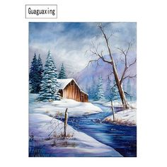 Painting & Calligraphy 5d Rhinestone Mosaic Handmade Winter Snow Play Landscape Painting Cross Stitch Full Diy Diamond Embroidery Christmas Decoration High Resilience