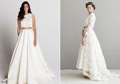 Vestidos de noiva estilo cropped