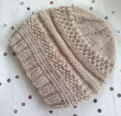"""Simple sample hat"" One skein + 6 stitches + 2 hours = 1 hat ! http://www.ravelry.com/patterns/sources/christine-chazots-ravelry-store/patterns"