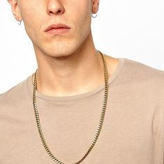 AandC 2016 Hot Sell Punk Gold Alloy Necklace for Men. Unique Alloy Necklace for Boy. >>> Find out more details by clicking the image : Makeup Sets