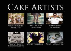 Searching for inspiration as a cake artist! This does not help, hehehe :) Cake Meme, Funny Cake, Cake Humor, Bakery Quotes, Personalized Cakes, Big Cakes, Cake Business, Cake Decorating Tips, Edible Art