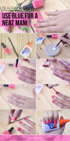 The secret to a perfectly neat mani: Beauty hack