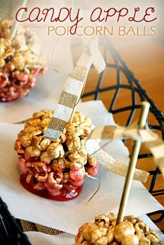 Candy Apple Popcorn Balls