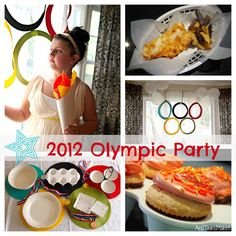 Throw a 2012 Olympic Party   #Olympics #Olympic Party