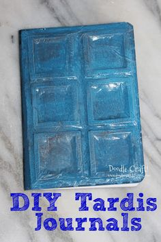 Doctor Who PARTY FAVORS! Tardis Journal is easy.
