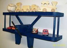 Blue Airplane Wall Shelf 18  Kids Aviation 3D Wall Art Baby Shower Gifts | eBay