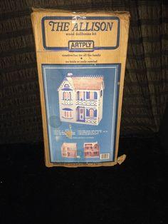 Artply Model 77 The Allison Wood Doll House 1:12 Scale Mahagony