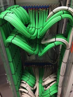 The satisfying work done by electrician Network Cable, It Network, Electrician Wiring, Contemporary Baskets, Structured Cabling, Speaker Plans, Computer Network, Cable Management, Electrical Engineering