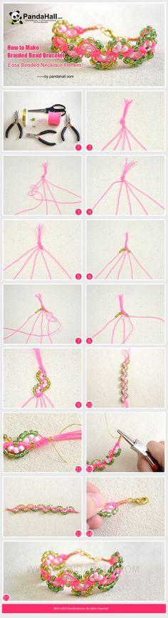 How to Make Braided Bead Bracelet – Easy friendship bracelet Pattern from pandahall.com