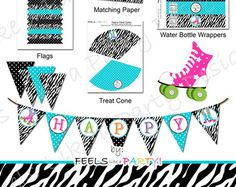 Dart Gun Party Pack with Blue Camo  Printable  by FeelsLikeAParty