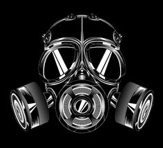 Create a gas mask (Illustrator) - Very detailed tutorial. This one takes time. Gas Mask Art, Masks Art, Gas Masks, Formation Illustrator, Crane, Aztecas Art, Pale Horse, Mask Tattoo, Adobe Illustrator Tutorials