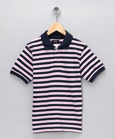 Take a look at this Pink Stripe Chip Polo by Garb on #zulily today!