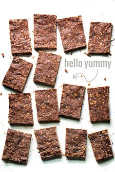Healthy Sea Salt Dark Chocolate Bars - super easy to make and loaded with good-for-you ingredients like oats, nuts, and dried fruit. 190 calories. | pinchofyum.com #chocolate #dessert #healthy