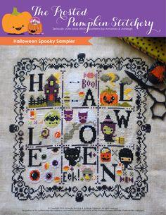 Halloween Spooky Sampler Cross Stitch Pattern by Frosted Pumpkin Stitchery