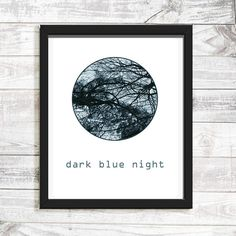 Night Trees fine art photography wall art abstract nature