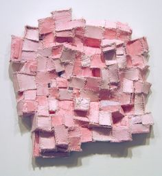 Elisa D'Arrigo Sewn and Constructed Cloth and Paper Works paper, cloth, thread, acrylic paint, marble dust Sculpture Textile, Soft Sculpture, Textile Fabrics, Textile Art, Yarn Crafts, Paper Crafts, Rosa Pink, Paper Artwork, Fabric Manipulation