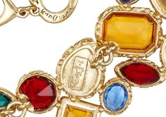 Vintage Yves Saint Laurent 1980′s Necklace with Brightly Colored Cabochons | Latest Revival