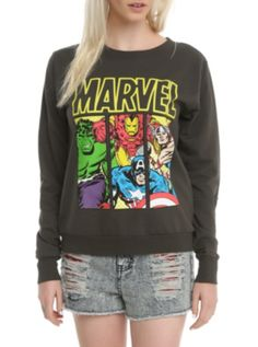 Marvel Avengers Panels Girls Pullover Top YYYYEEESSS. This is perfect