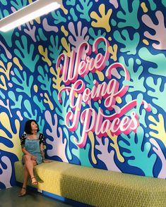 Stefan Sagmeister, Mural Art, Wall Murals, Lauren Hom, Wall Drawing, Grafik Design, Art School, Hand Lettering, Online Printing