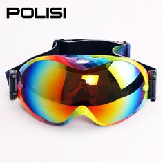 Professional glasses for a snowmobile double layer lens spherical large outlook goggles Ski Goggles, Skiing, Lens, Glasses, Ski, Eyewear, Eyeglasses, Klance, Eye Glasses