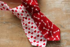 little man tie, little boy tie, newborn tie, baby tie, Valentine's Day tie, holiday tie, photography prop. $16.00, via Etsy.