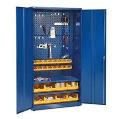 Komplett verktøyskap, 1900x1020x500 mm, blå
